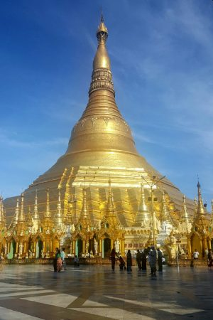 Golden Shwedagon In Yangon