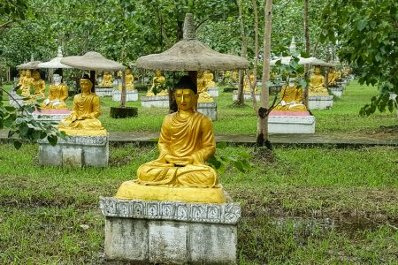 Buddha Statues In Hpa-An