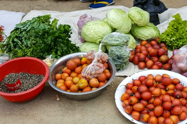 Fresh Vegetables At A Market In Chin-State