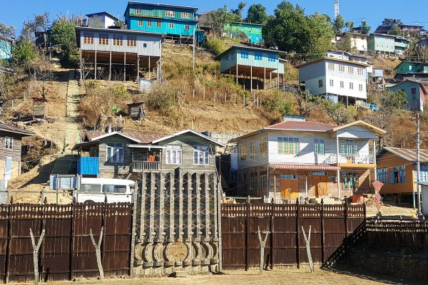 Colorful Houses In Hakha