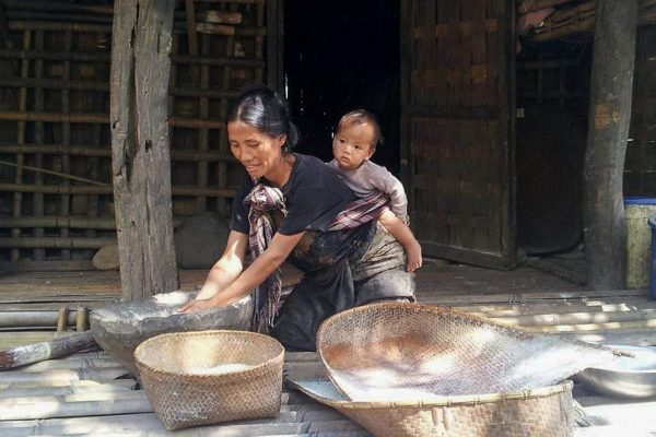Rural Life In A Village In Chin State