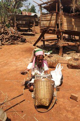 Burmese Peasant At Work In Loikaw