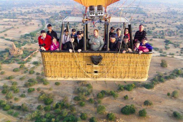 Balloon Gondola Over Bagan