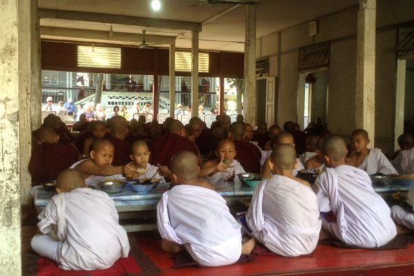 Buddhist Novices In Sagaing