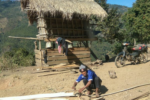Building A Wooden Cabin In Chin State