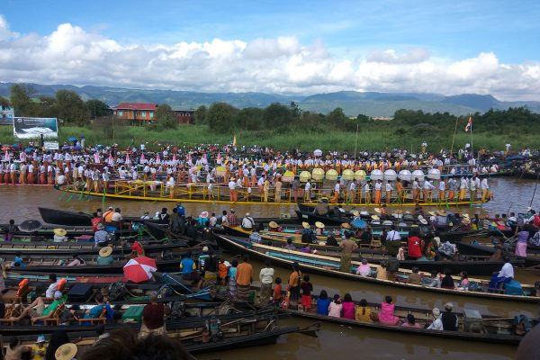Big Ceremony Is Celebrated On Boats, Inle Lake