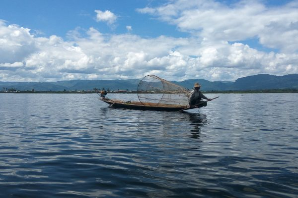 One Leg Rower On The Inle Lake