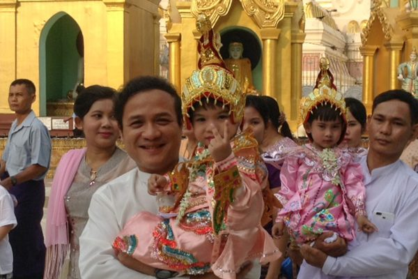 People At Shwedagon In Yangon