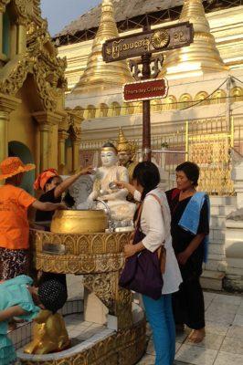 Offering Water To The Buddha, Shwedagon Yangon