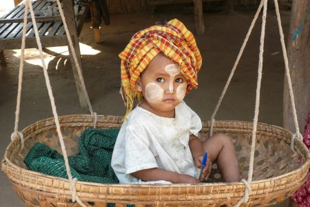 Burmese Child In Taung Ba
