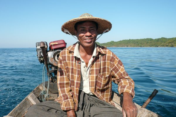 Fisher Man At Ngapali