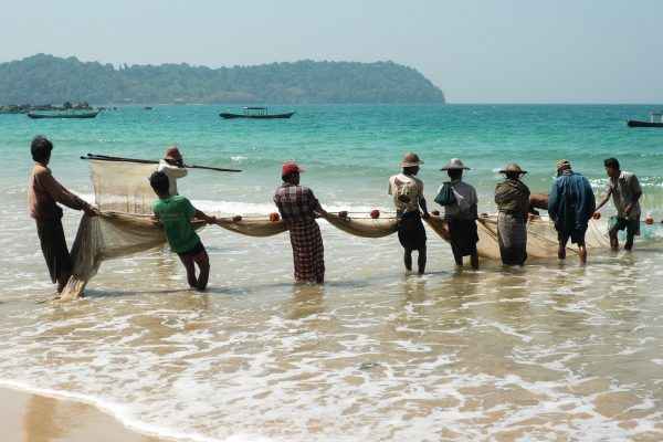 Fisher Men At Ngapali Beach