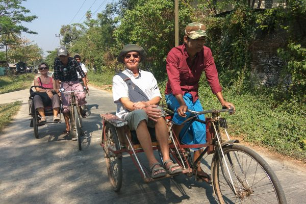 People Are Exploring Dhala By Trishaw