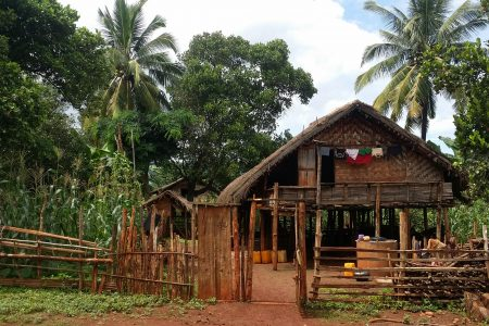 Traditional Wooden House Of A Local Family